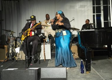New York, NY - October 13, 2018: The Blues performs at Loft Party A Night for the Soul for Jazz Foundation of America at Hudson Studios, Manhattan