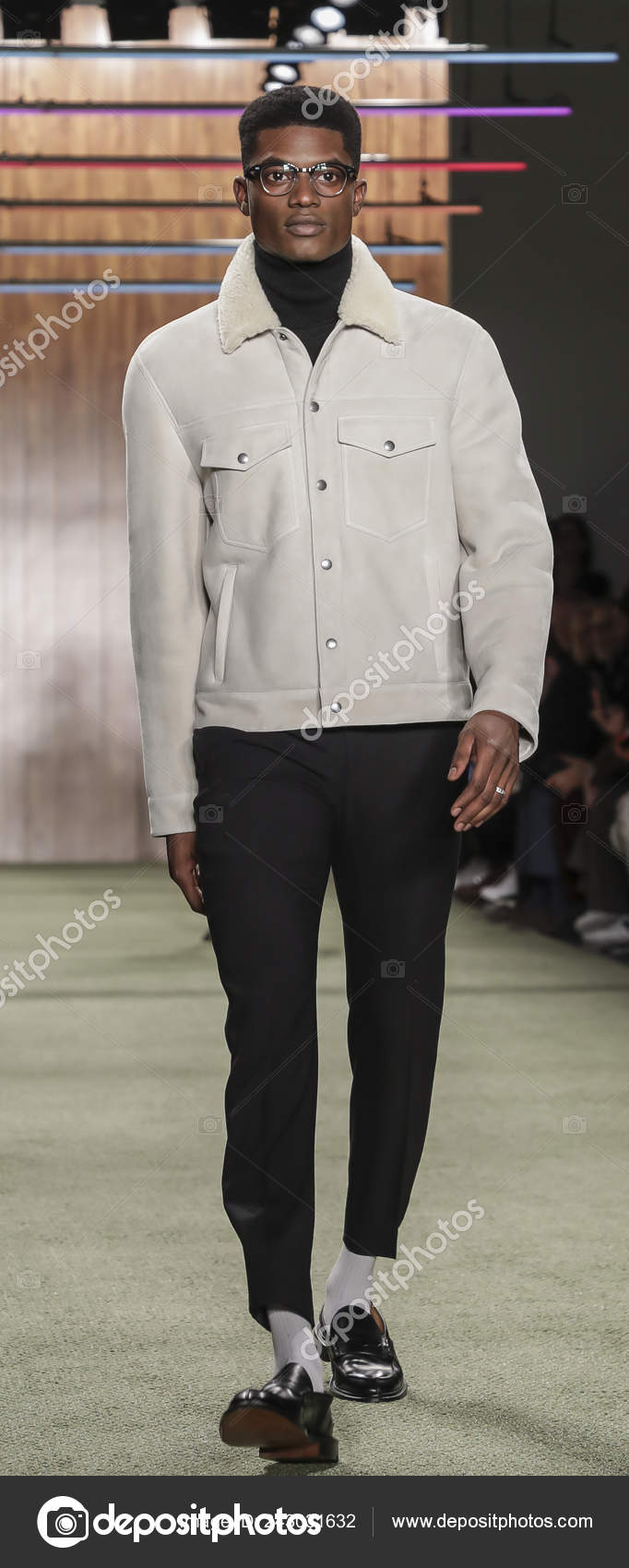 New York Usa February 2019 Model Walks Runway Todd Snyder – Stock