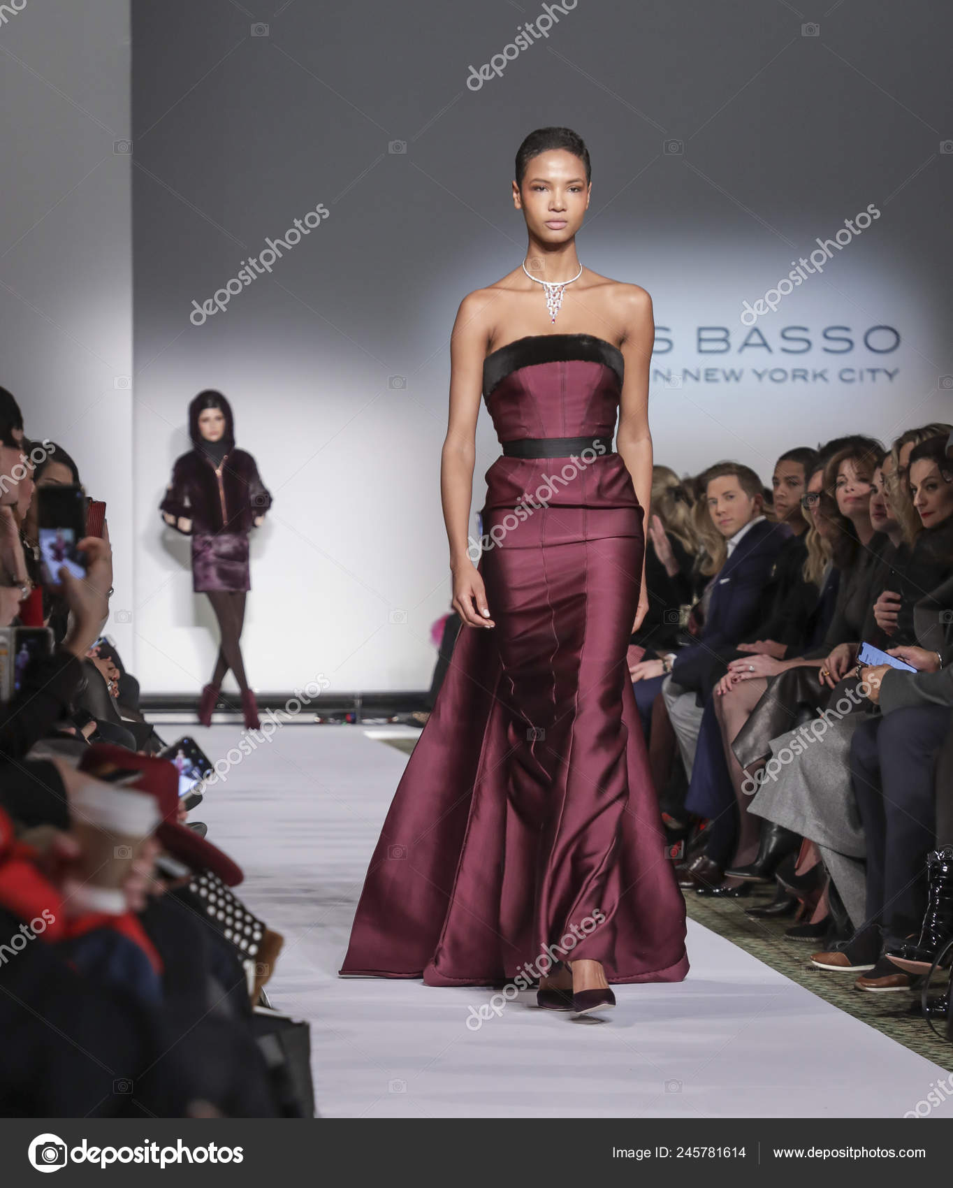 New York Usa February 2019 Model Walks Runway Dennis Basso