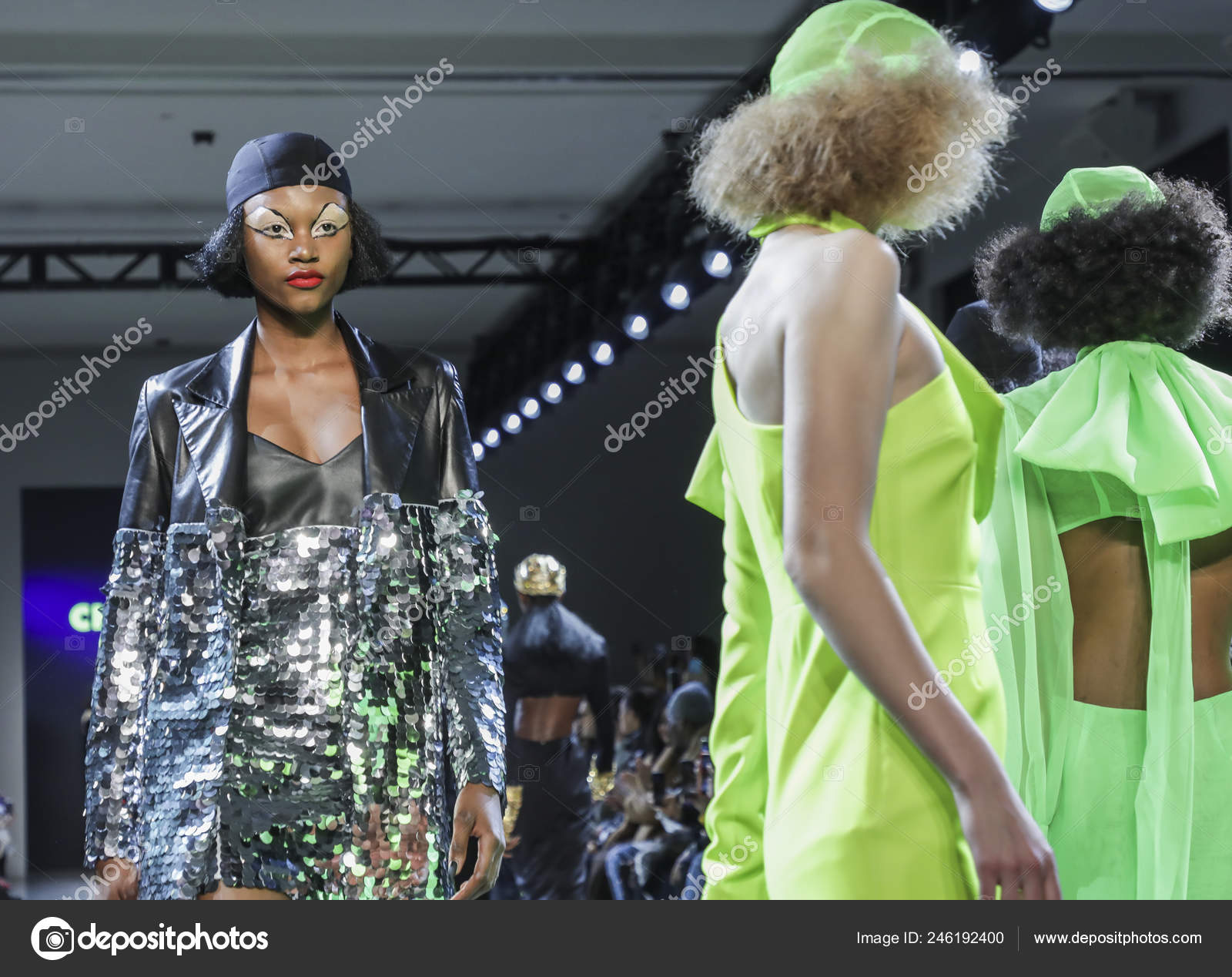 New York Usa February 2019 Models Walk Runway Christian Cowan