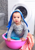 little boy at day of washing