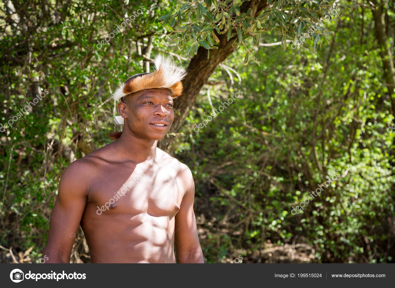 Village Culturel Lesedi Afrique Sud Novembre 2016 Portrait Zulu