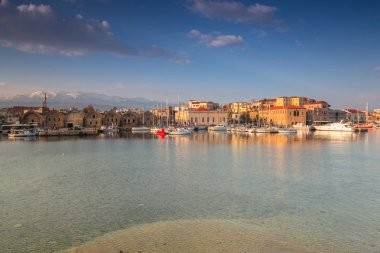 Old Venetian port of Chania at sunrise, Crete. Greece
