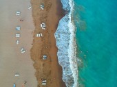 Photo Aerial view of tropical beach on Turkish Riviera near Side