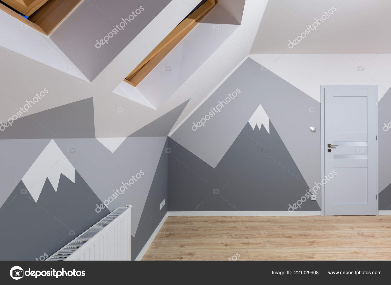 Vernici Cameretta Bambini : Camera letto bambini con vernice lavagna montagne nuovo pavimento