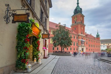 Warsaw, Poland - September 5, 2018: Architecture of the Royal Castle square in Warsaw city, Poland. Warsaw is the capital and largest city of Poland.