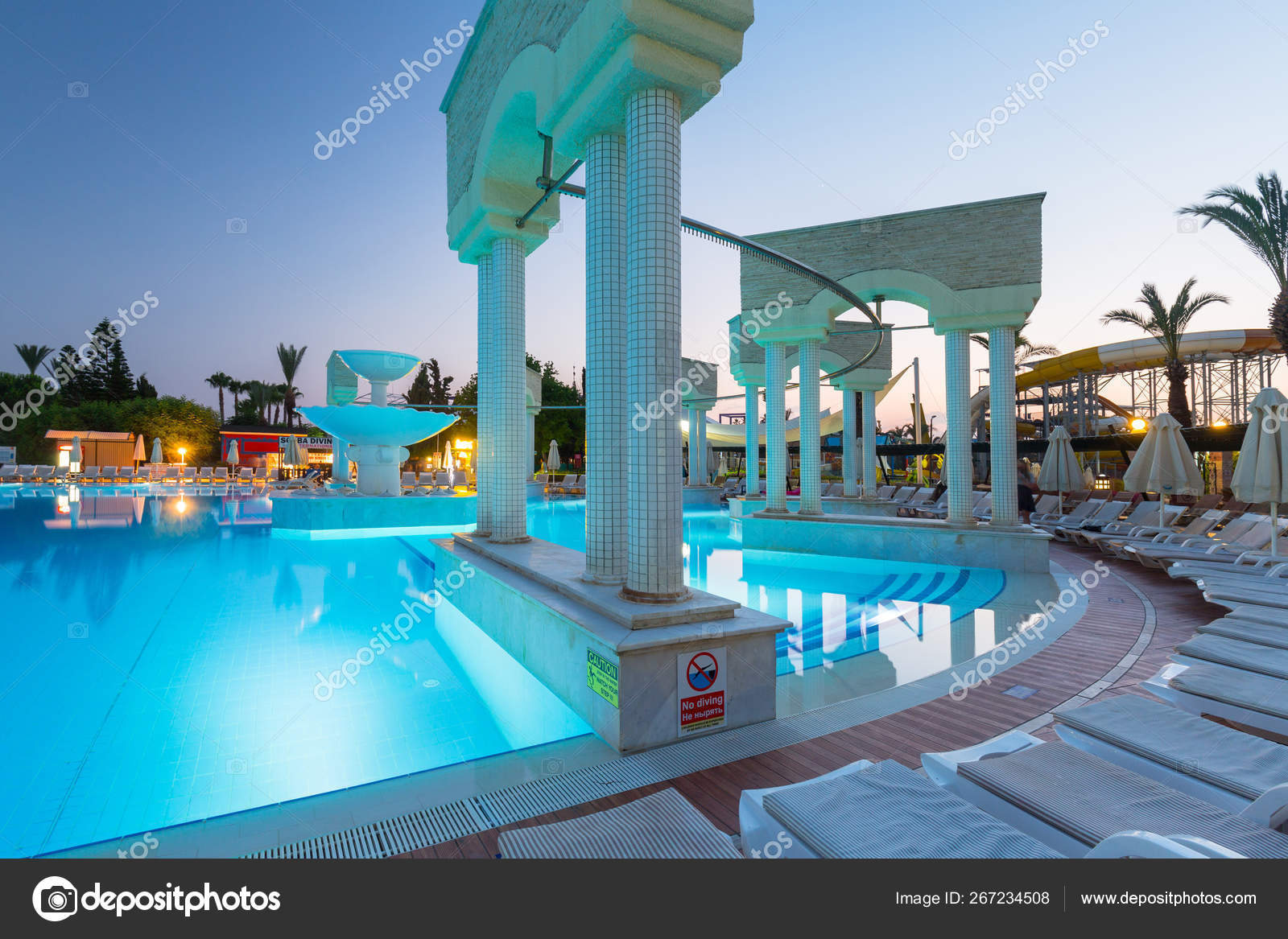 Side Turkey June 2018 Beautiful Pool Area Pegasos World Resort Stock Editorial Photo C Patryk Kosmider 267234508
