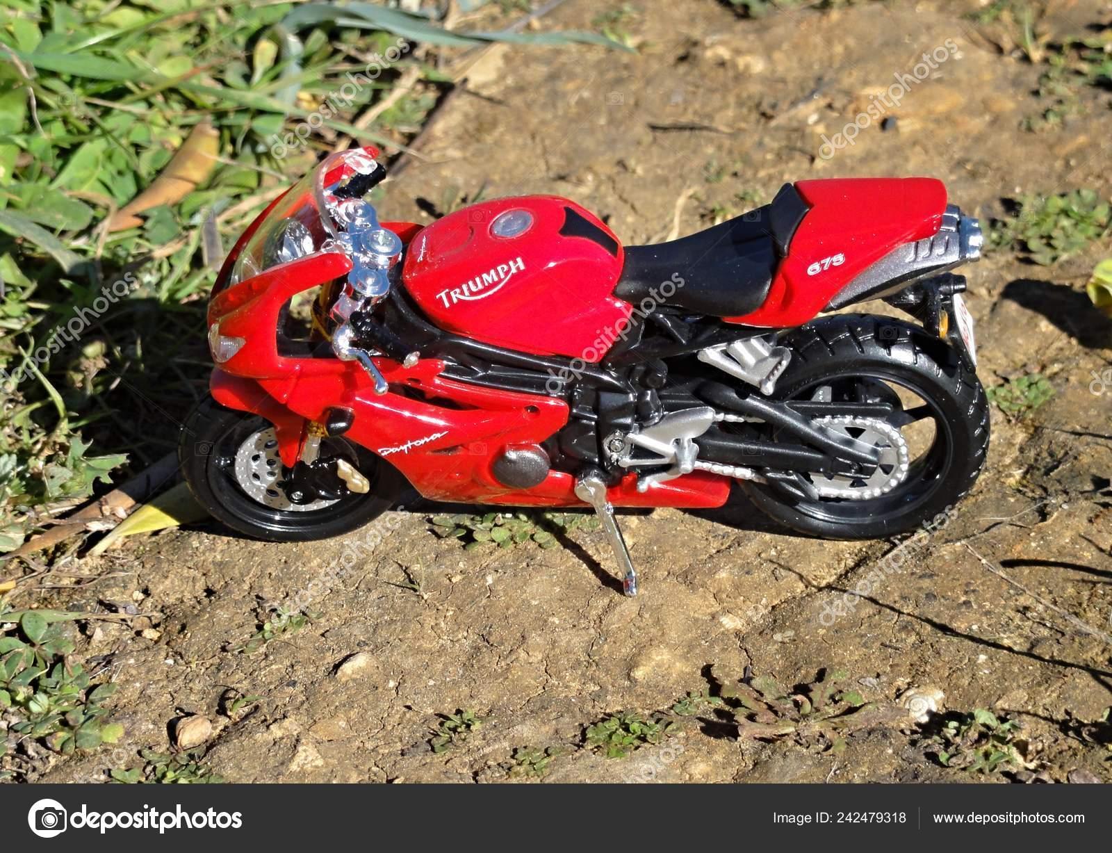 Great Triumph Daytona 675 Model Motorbike Nature Stock Editorial