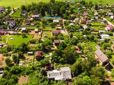 The aerial view of countryside near a Moscow, Russia