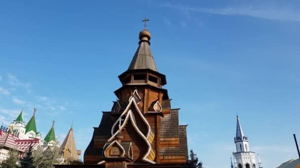 Moskva, Rusko - 14 října. 2018. kostel svatého Mikuláše v Izmailovo