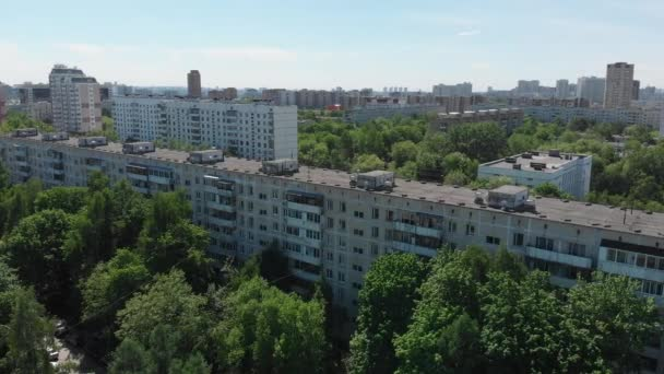 Top view of the district Severnoye Tushino in Moscow, Russia.