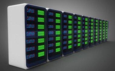 modern server concept. 3d illustration