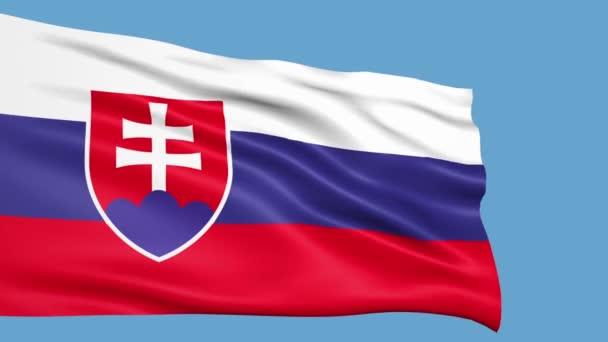 Slovensko vlajka mávala ve větru