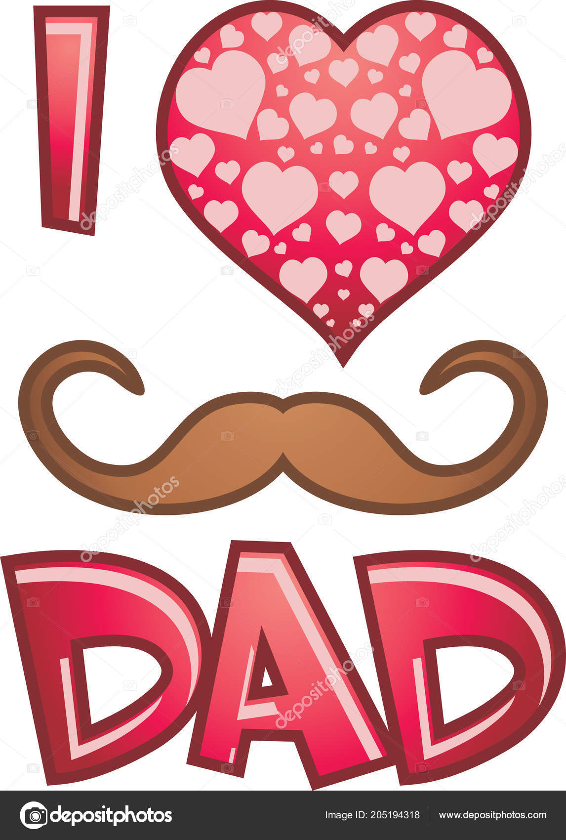 Symbol Father Day Stock Vector Teddy2007b 205194318