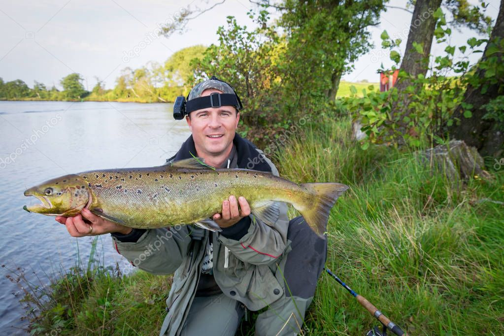 Salmon fishing in Sweden