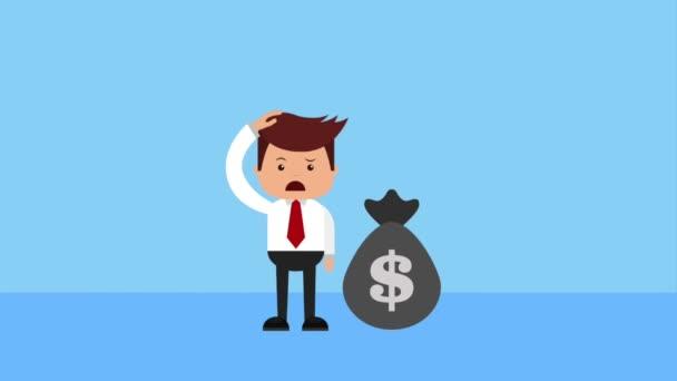 businessman financial money