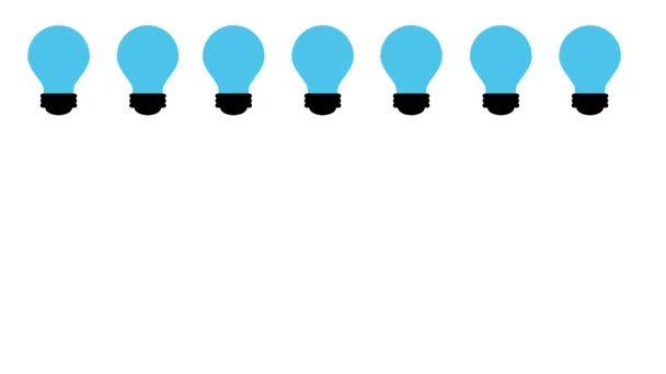 světle modrá žárovka a žluté žárovky