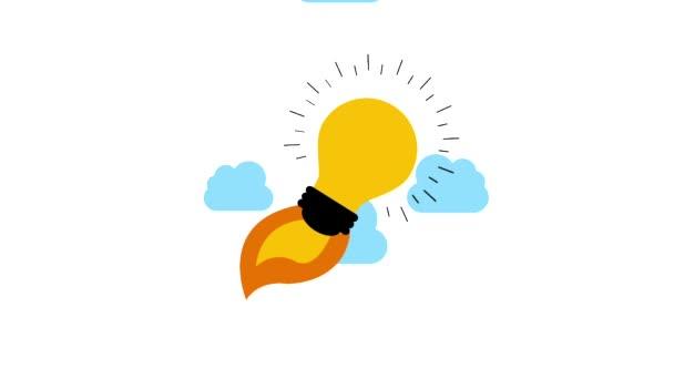 Glühbirne Idee Kreativität fliegenden Start