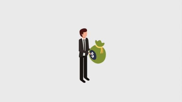 Geschäftsmann Bankgeld