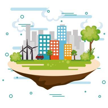cityscape scene eco friendly