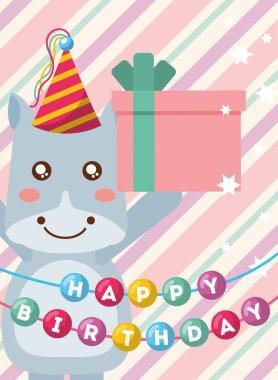 cute animal happy birthday