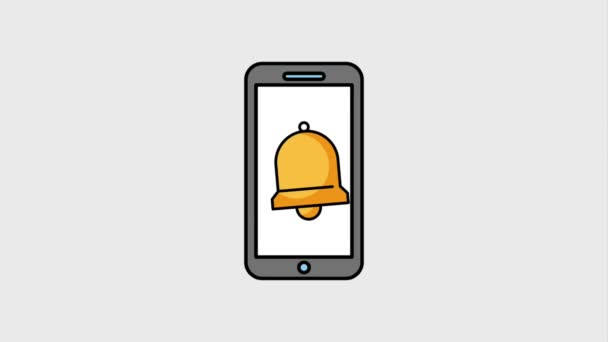 phone and bell hang ring alarm animation hd