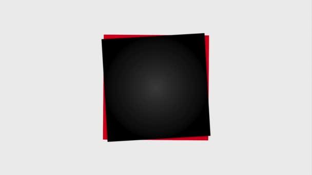 rote und weiße Luftballons schwarzen Freitag Verkauf Banner mit handschriftlichen schwarzen Freitag Animation hd