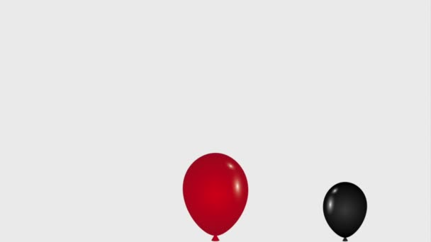Falling Red White And Black Balloons Decoration Black Friday