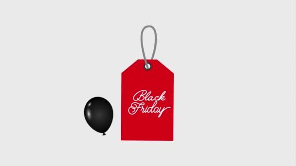 piros tag eladó fekete péntek sötét fényes léggömbök fekete péntek animáció hd