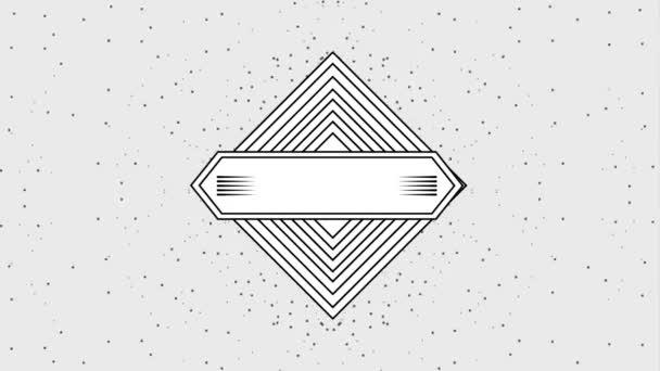 geometriai vintage képkeret címke