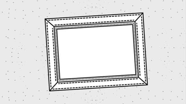 grunge styl rámce čtvercové zig zag linky