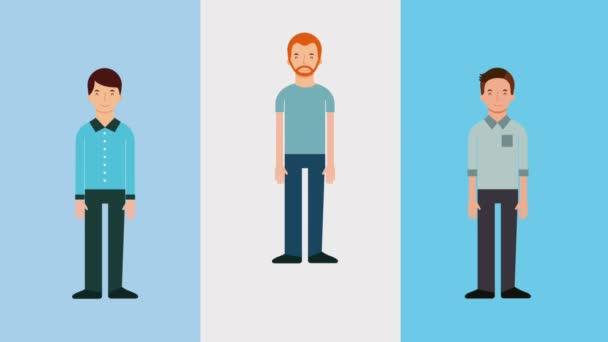 Gruppenarbeit Männer Charaktere