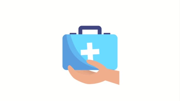 hand holding first aid kit medical