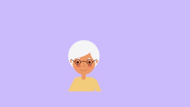 old woman portrait talking bubble