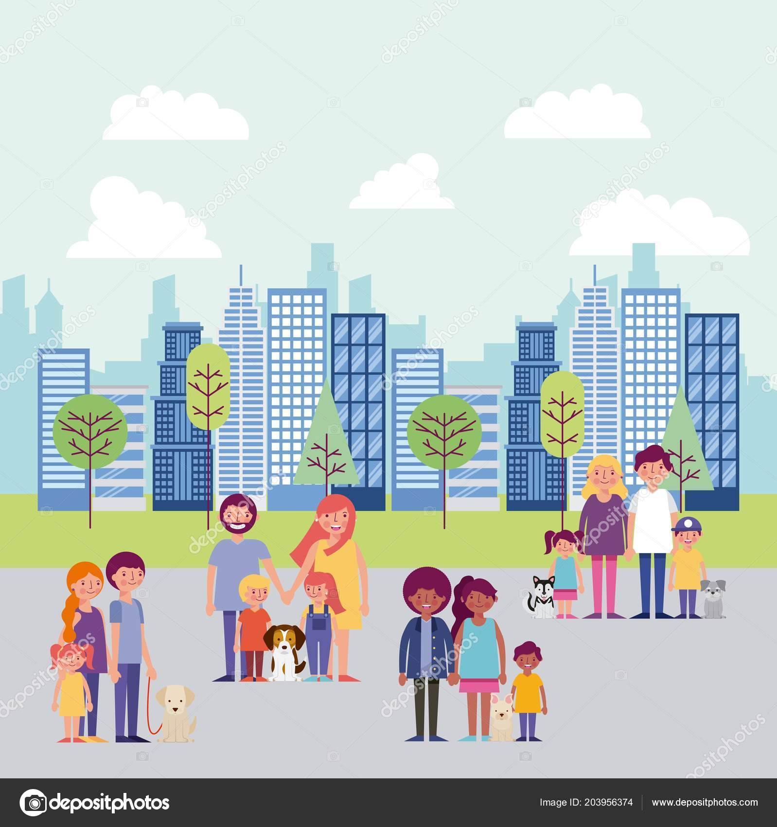 Семья и мой город картинки выполненная