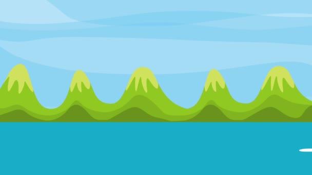 Krajina jezera hory přírodní obloha