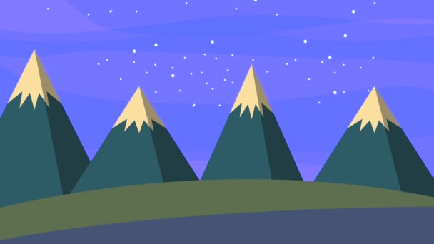 landscape night starry moon sky and snow mountains
