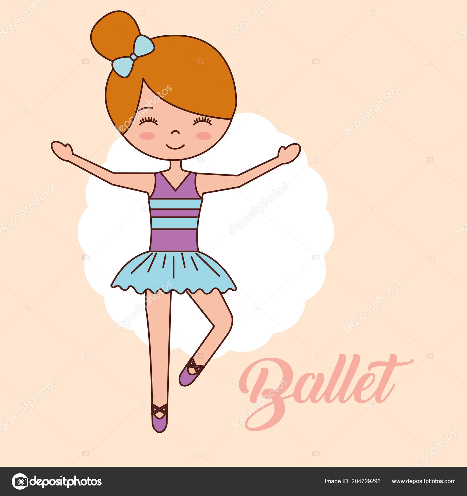 Desenho De Linha Continuo Ilustracao Mostra Uma Bailarina Em