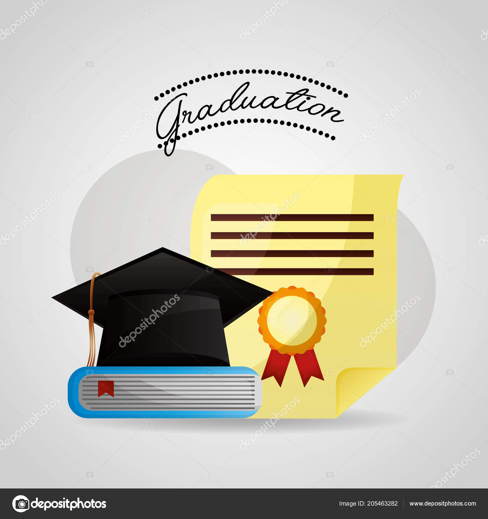 Congratulations Graduation Card Stock Vector C Yupiramos 205463282