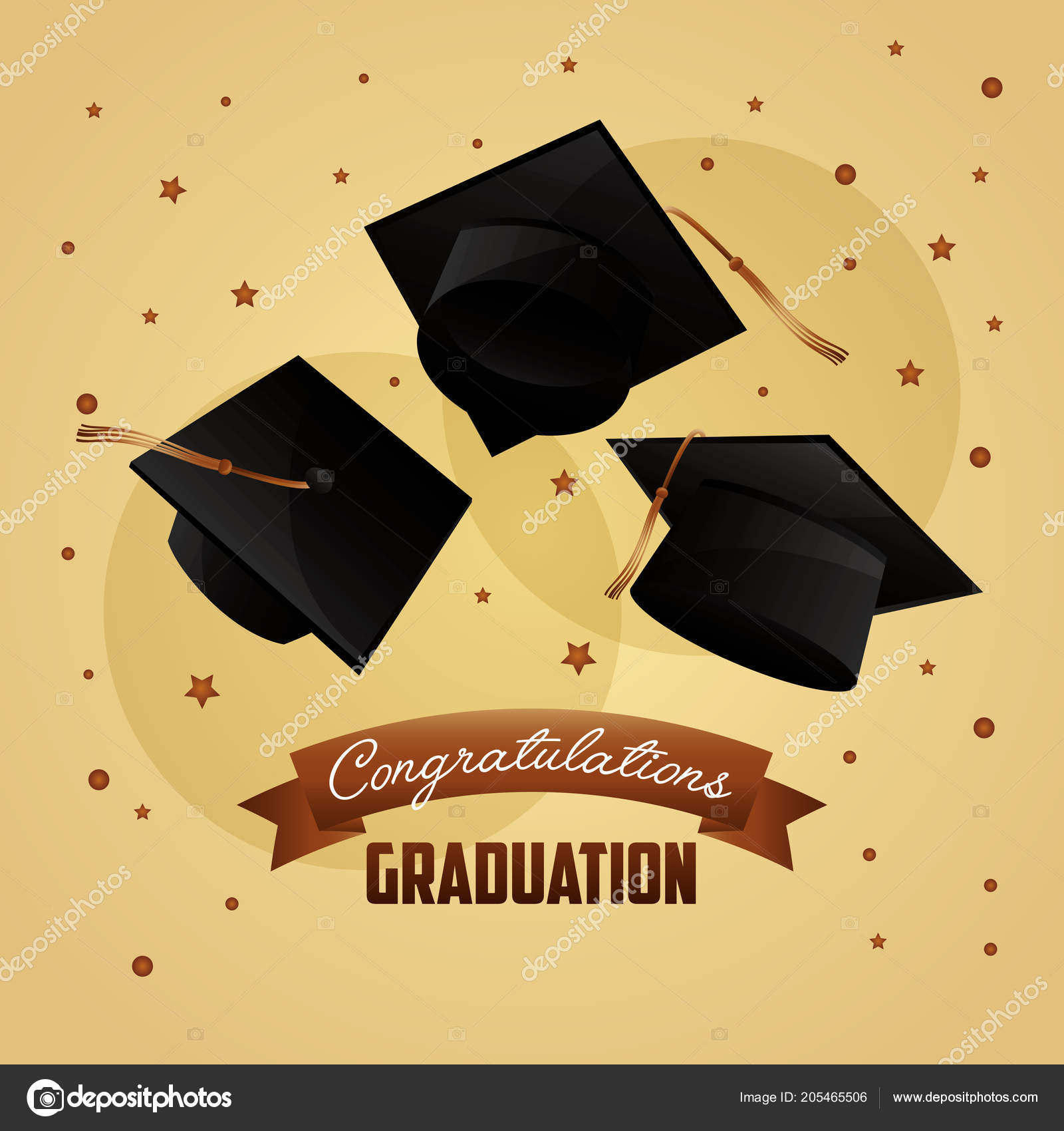 Congratulations Graduation Card Stock Vector C Yupiramos 205465506