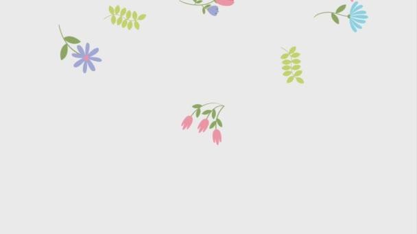 květinové pohybu Květy raší listy přírodní
