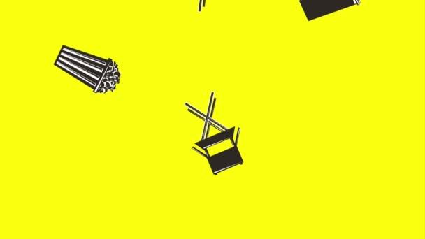 Film Motion Stuhl Regisseur Popcorn und Limo Retro