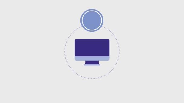 monitoru počítače kulaté odznaky prázdná šablona
