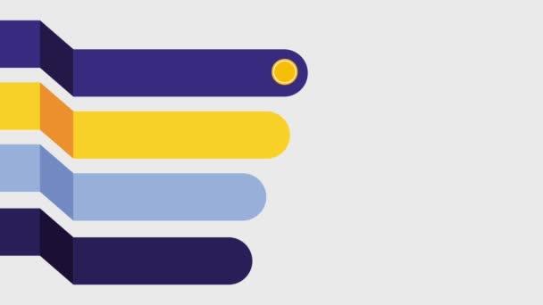 infographic 4 lépések alkatrészek szakaszában folyamatok sablon