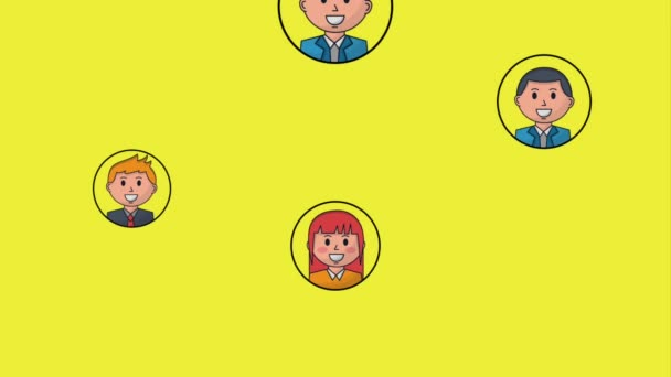 team business people with multicolored background