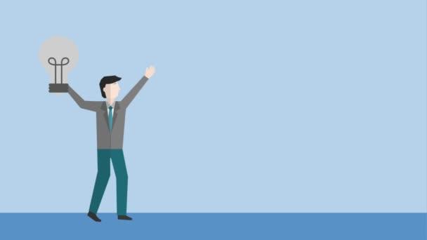 podnikatel, mává rukou s obchodní šipky nahoru