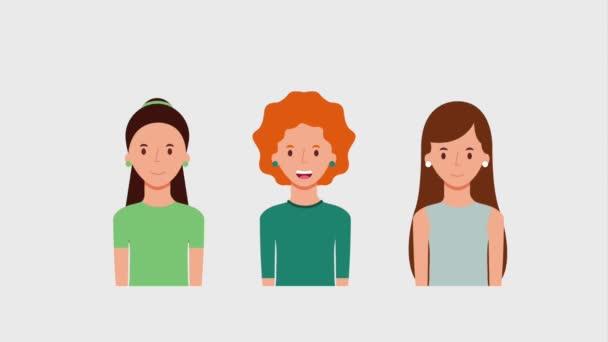 portre üç kadın karakter çalışması