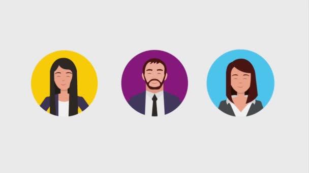 csapatmunka emberek animáció hd