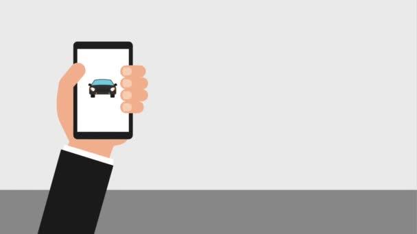 Ruční mobilní umístění černé kartou