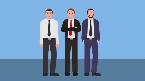 Teamarbeit Geschäftsleute Gruppe charatcers